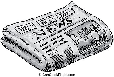 Newspaper - A cartoon newspaper reporting events.