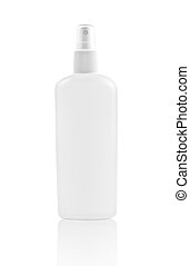 White spray bottle isolated
