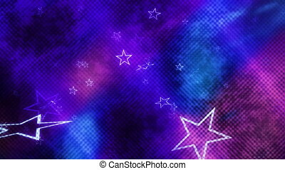 Textured Looping Stars Background