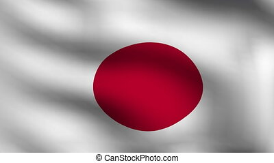 animation of flag of japan