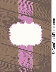 Vector Pastel Wooden Background and Frame