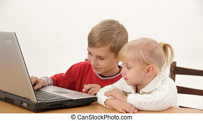 Business children - Two small children understand as the...