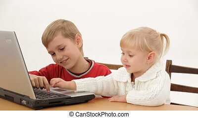 Small business children - Two small children understand as...