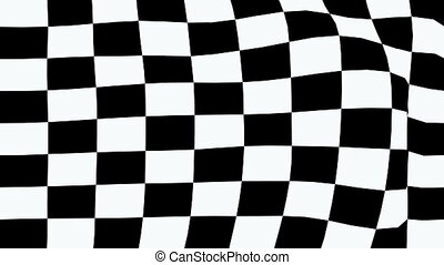 checkered flag in animation