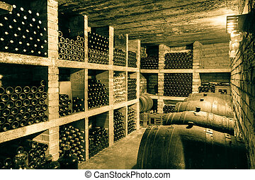 wine cellar - HDRI of a wine cave