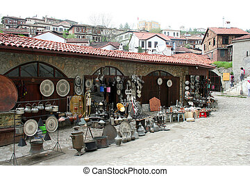 souvenir shop - Some antique objects at a souvenirs shop in...