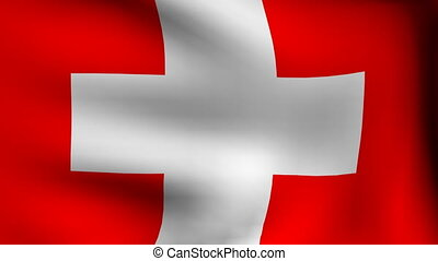 flag of switzerland background - animation of flag of...