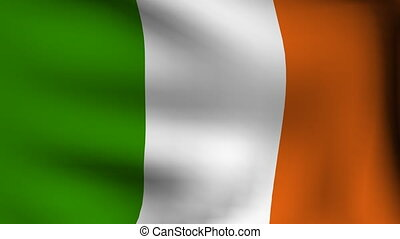 animation of flag of ireland background