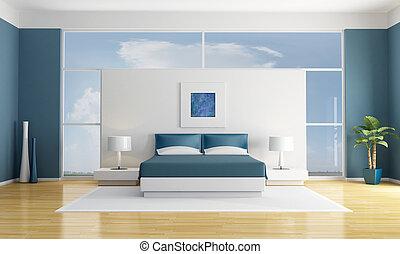 藍色, 寢室