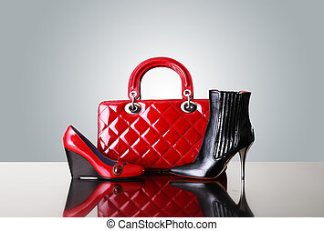 shoes and handbag, fashion photo - shoes and handbag,...