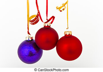 Christmas decoration - hanging Christmas decoration on white...