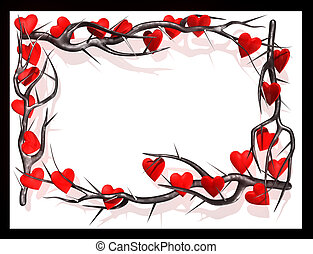 Hearts branch frame