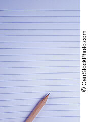 Sheet of paper with a pencil