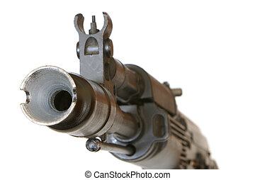 Gunpoint isolated on a white background