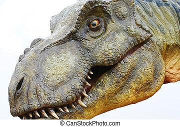 dinossauro,  Rex, branca,  tyrannosaurus