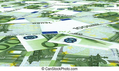 Euro and US Dollars Money Fly Over - Euro and US Money Fly...
