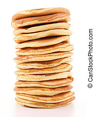 isolated stack of pancakes on white background