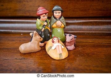 Födelse, jul, Krubba