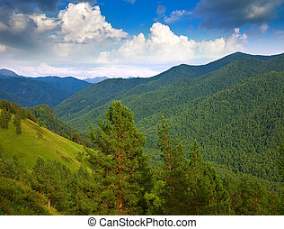 Altai mountains - View of Altai mountains. Siberia, Russia