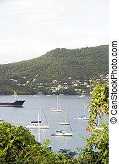 Port Elizabeth harbor Bequia St. Vincent The Grenadines -...