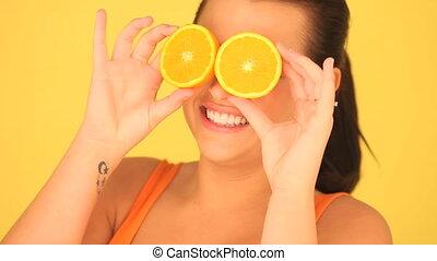 Woman With Orange Eyes