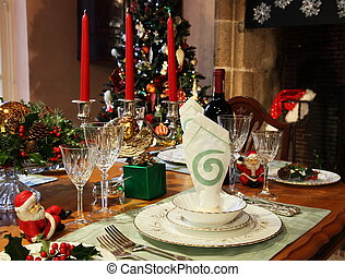 Christmas Table Setting - A festive Christmas table setting...