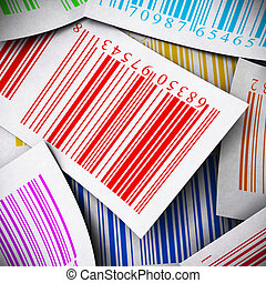 multicolored bar codes background square image