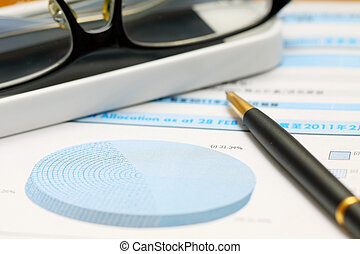 Financial concept accounting and finance