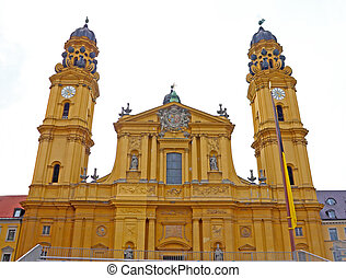 Theatine church, catholic church in Munich Germany