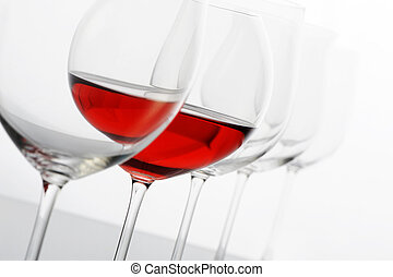 redwine glass on white background
