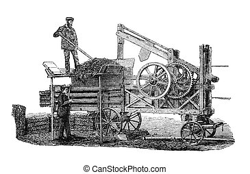 Farmers at work - RUSSIA - CIRCA 1897: engraving taken from...