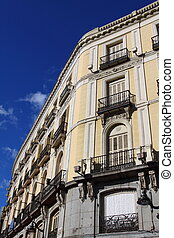 Mediterranean architecture in Spain Old apartment building...