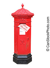 Christmas letter posted in postbox - Christmas letter posted...