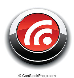 Rss metallic 3d vibrant round icon