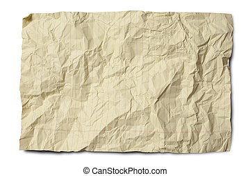 Crumpled Yellow Legal Paper