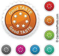 Good taste award button.