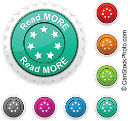 Read more award button Vector