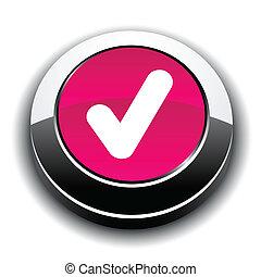 Check metallic icon.