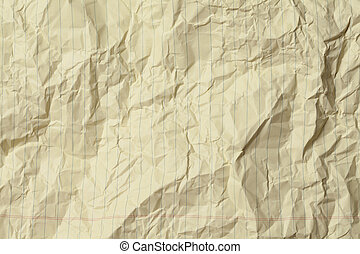 Crumple Yellow Paper Background