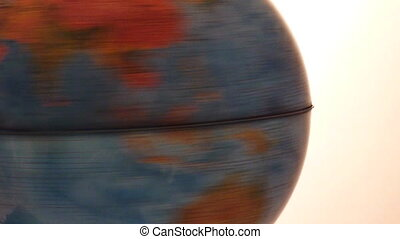 Earth - Planet Earth moving fast, globe toy spinning