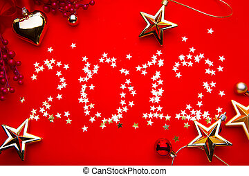 art new year 2012 red background - new year 2012 red...