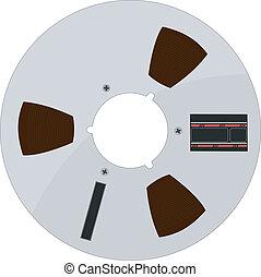 Vector illustration of a tape bobbin