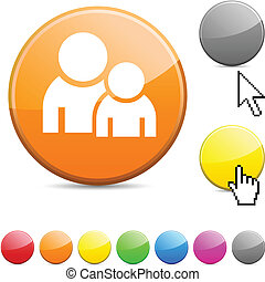 Forum glossy button.