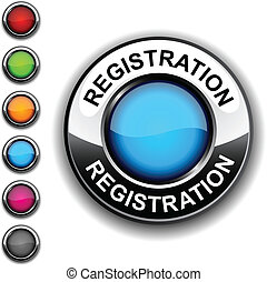 Registration button. - Registration realistic button....