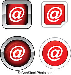 Arroba button set. - Arroba web buttons. Vector...