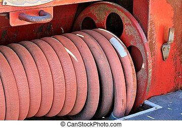Old fire truck hose