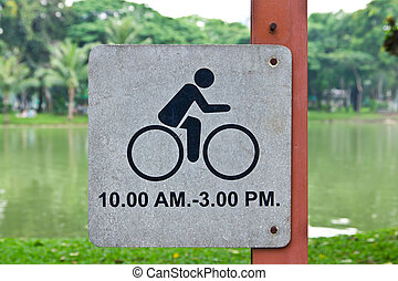 bicycle allow sign in park