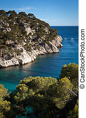 Splendid southern France coast Calanques de Cassis, southern...