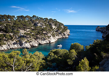 Splendid southern France coast (Calanques de Cassis),...