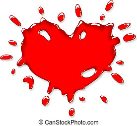 Red heart splash.